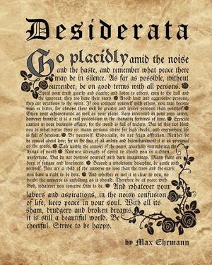Old English Desiderata by Quote Master