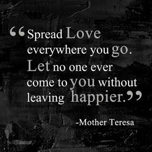 Spread Love by Quote Master