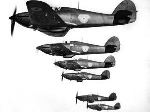 R.A.F. Hawker Hurricanes, March 1938