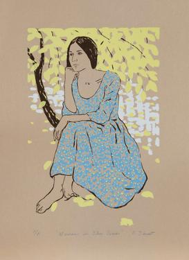 Woman in the Blue Dress by R. Bienert