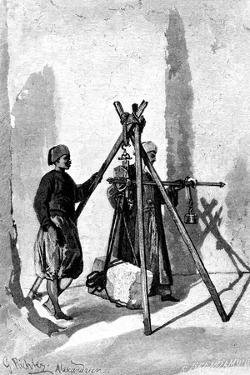 Weighing of the Blocks of Stone, Egypt, 1880 by R Brandamour
