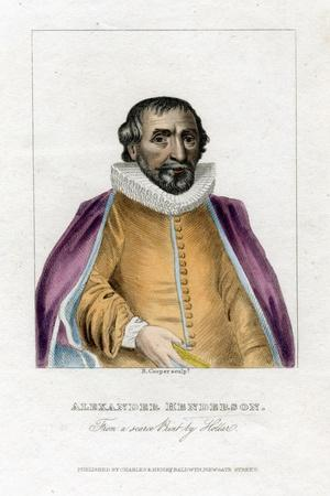 Alexander Henderson, Scottish Theologian, (Early 19th Centur)