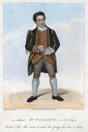 Mr Wilkinson as Michael in Free and Easy, 1822