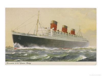 Cunard White Star Liner in Full Steam