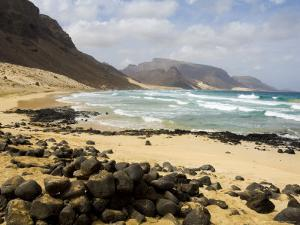 Deserted Beach at Praia Grande, Sao Vicente, Cape Verde Islands, Africa by R H Productions