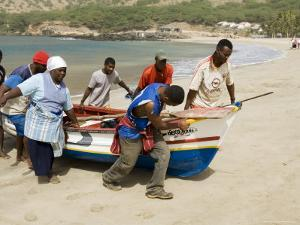 Fishing Boats, Tarrafal, Santiago, Cape Verde Islands, Africa by R H Productions