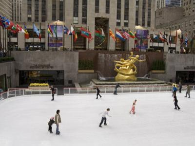 Ice Rink at Rockefeller Center, Mid Town Manhattan, New York City, New York, USA by R H Productions