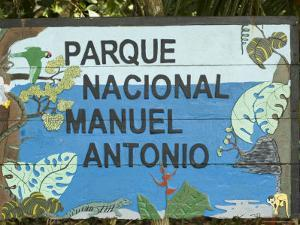 Manuel Antonio National Park Sign, Costa Rica, Central America by R H Productions