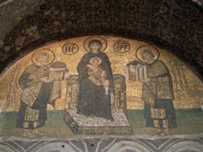 Mosaics in the Hagia Sophia, Originally a Church, Then a Mosque, Istanbul, Turkey