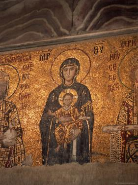 Mosaics in the Hagia Sophia, Originally a Church, Then a Mosque, Istanbul, Turkey by R H Productions