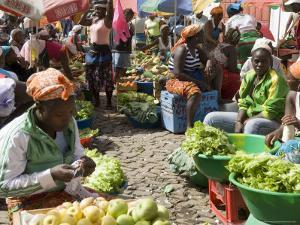 Municipal Market at Assomada, Santiago, Cape Verde Islands, Africa by R H Productions