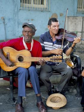 Musicians Playing Salsa, Santiago De Cuba, Cuba, West Indies, Central America by R H Productions
