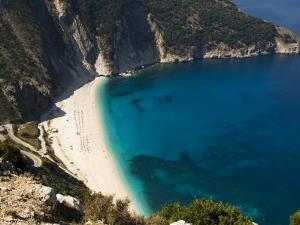 Myrtos Beach, the Best Beach for Sand Near Assos, Kefalonia (Cephalonia), Ionian Islands, Greece by R H Productions