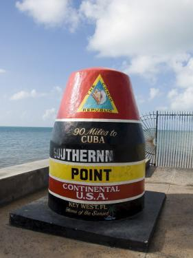 Old Buoy Used as Marker for the Furthest Point South in the United States, Key West, Florida, USA by R H Productions