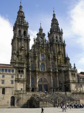 Santiago Cathedral on the Plaza Do Obradoiro, Santiago De Compostela, Spain by R H Productions