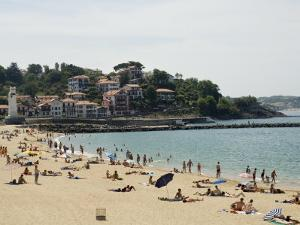 The Beach at St. Jean De Luz, Basque Country, Pyrenees-Atlantiques, Aquitaine, France by R H Productions
