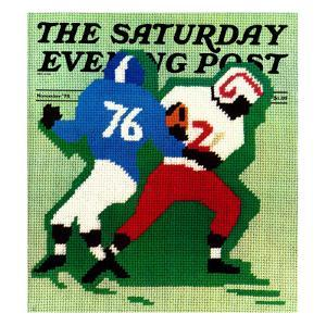""""""" Needlepoint,"""" Saturday Evening Post Cover, November 1, 1974 by R. Heitman"""