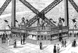 Paris, France - La Tour Eiffel, Printing House Figaro by R. Liboris