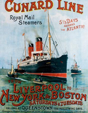 Cunard Line, Liverpool to New York