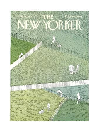 The New Yorker Cover - July 21, 1975 by R.O. Blechman