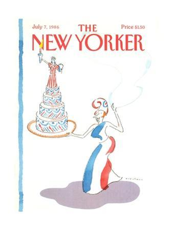 The New Yorker Cover - July 7, 1986 by R.O. Blechman