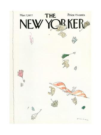 The New Yorker Cover - March 7, 1977 by R.O. Blechman