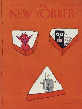 The New Yorker Cover - November 2, 1981 by R.O. Blechman