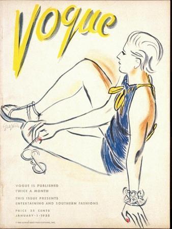Vogue Cover - January 1935