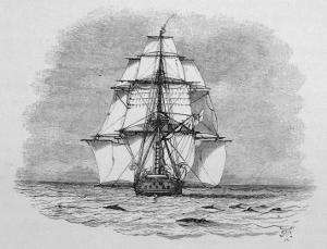 Hms Beagle Among Porpoises Charles Darwin's Research Ship by R.t. Pritchett