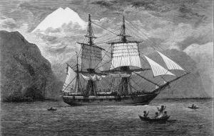 "Hms ""Beagle"" the Ship in Which Charles Darwin Sailed in the Straits of Magellan by R.t. Pritchett"