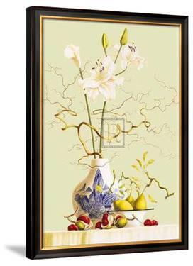 Still Life with Chinese Vase and Flowers by R. Verkerk