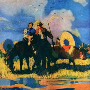 """Wagon Train,""March 1, 1926 by R.W. Crowther"