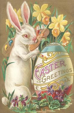 Rabbit with Egg and Daffodils