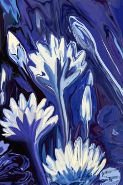 Lotus in Blue by Rabi Khan