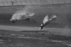 Race Car Crashing on Track