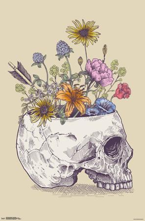 RACHEL CALDWELL - FLOWER SKULL