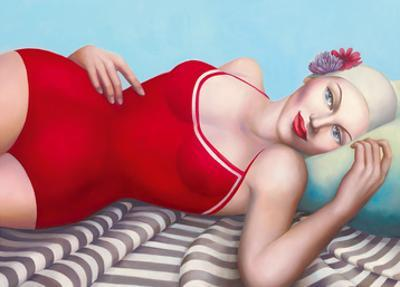 The Bather in Red by Rachel Deacon