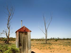 Classic Australian Outdoor Toilet (Dunny) by Rachel Lewis