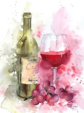 Red Wine And Grapes by Rachel McNaughton