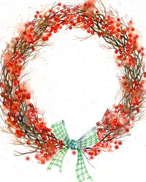 Twig And Berry Wreath by Rachel McNaughton