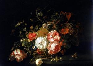 Basket of Flowers, Uffizi Gallery, Florence by Rachel Ruysch