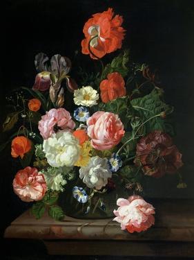 Flower in a Glass Vase by Rachel Ruysch