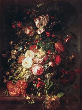 Flowers and Fruit by Rachel Ruysch