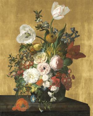Flowers in a Glass Vase - Luxe by Rachel Ruysch