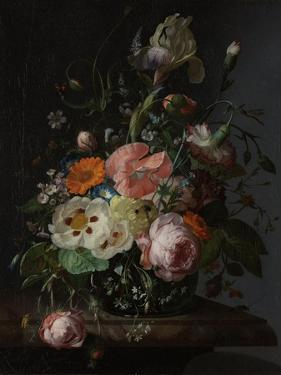 Still Life with Flowers on a Marble Tabletop by Rachel Ruysch