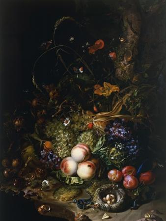 Still Life with Fruit, Flowers, Reptiles and Insects