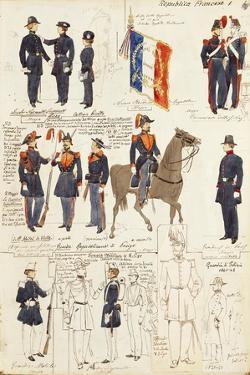 Various Uniforms of Republic of France by Rachel Ruysch