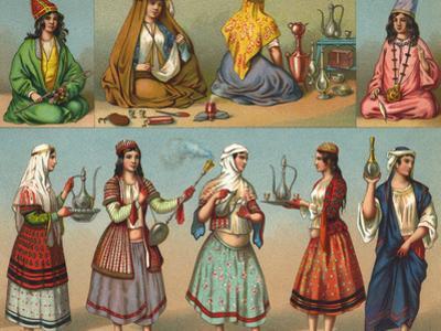 Racial, Iran, Servants 19C