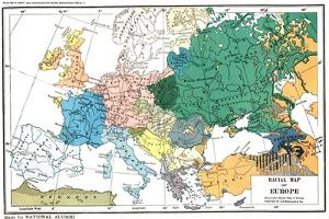 Racial map of Europe, c.1923