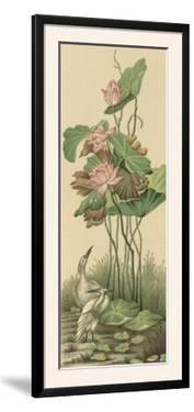 Crane and Lotus Panel I by Racinet
